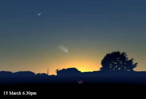 March 15 stellarium comet b