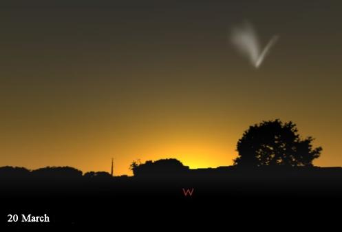 March 20 plus comet