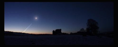 Nov 29 before sunrise with Moon, Saturn and Mercury