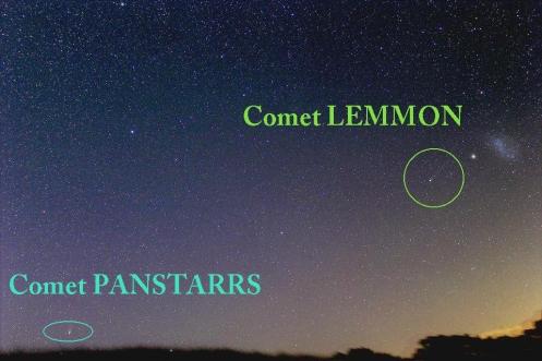 2 comets Justin Tilbrook labels