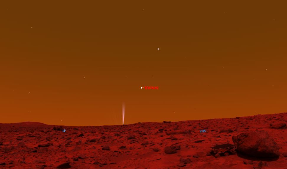 """By the 20th, with """"Comet Fever"""" sweeping across Earth, Curiosity ..."""
