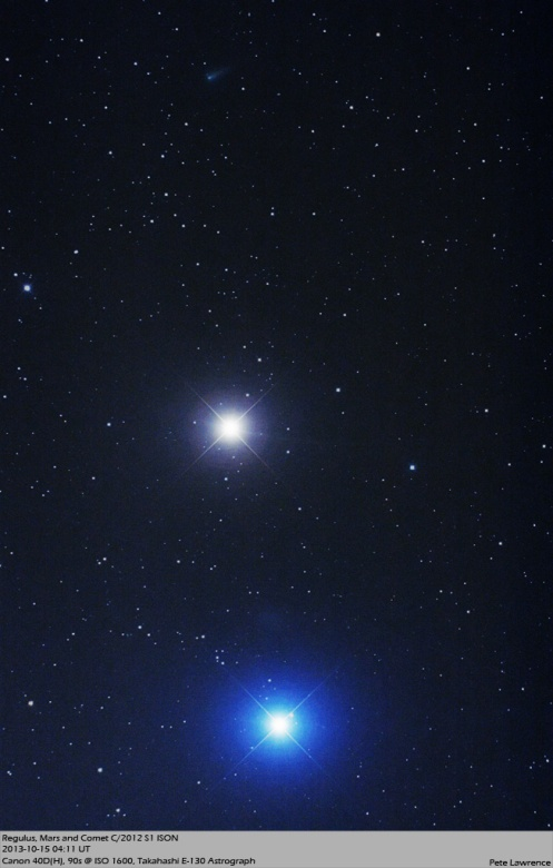 Pete-Lawrence-2013-10-15_Ison-Regulus-Mars_IMG_4471-Crop_1381835995